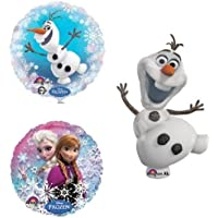 loonballoon Frozen Disney Anna Elsa Olaf雪だるまスノーフレーク3パーティー装飾Mylar Balloons