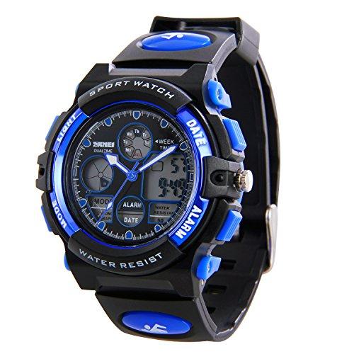 HIWATCH 腕時計 防水 デジタル表示 アナデジ式 アラーム スポーツウォッチ メンズ