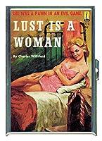 Lustは女性セクシーなパルプステンレススチールIDまたはCigarettesケース( Kingサイズまたは100mm )