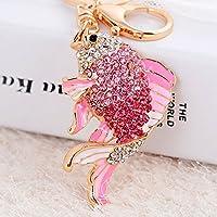 キーチェーンキーリングクリスタルダイヤモンド装飾ギフト