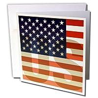 Kike Calvoフラグ–Unites Statesアメリカ国旗with US透かし–グリーティングカード Set of 6 Greeting Cards