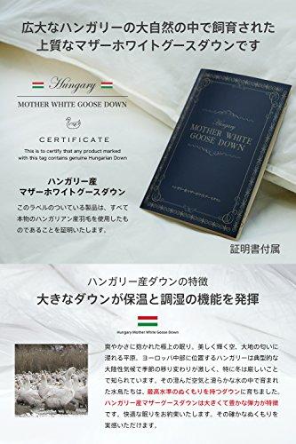 ハンガリー産 ホワイトマザーグースダウン 95% ツインキルト 羽毛布団 ダウンパワー440 日本製 (ダブル)