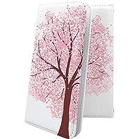 Alcatel PIXI4 手帳型ケース 和 和風 和柄 日本 japan 和柄 和風 桜 アルカテル ピクシー イオンモバイル 手帳型ケース サクラ 桜 pixi 4 花 花柄 フラワー