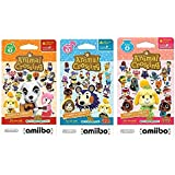 Nintendo Animal Crossing amiibo Cards Series 2, 3, 4 for Nintendo Wii U and 3DS, 1-Pack (6 Cards/Pack) (Bundle) Includes 18 C