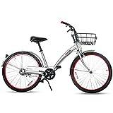 BTM(ビーティーエム) シティサイクル 自転車 24インチ自転車 ママチャリ 軽快車 PL保険付 MS036458