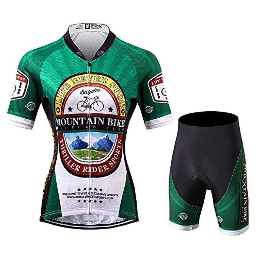 幾分尋ねる短くするThriller Rider Sports サイクルジャージ レディス 女性自転車運動服装半袖 Mountain Bike Club 4 Colors