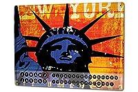 カレンダー Perpetual Calendar Retro Art Metropole M.A. Allen New York Tin Metal Magnetic