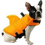 Enfants Cheris ペット用品 犬 ライフジャケット フローティングベスト 救命胴衣 水泳の練習用品 水遊びに 安全安心 小型から大型犬まで-orange-S