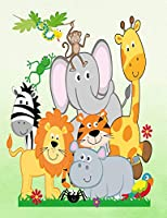 Jungle Animals Zoo Animals Safari Party Book: Zoo Animals Notebook Elephant Hippo Parrot Zebra Tiger Lion Giraffe Monkey Snake Spider