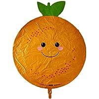 食べ物柄 アルミ風船 プロデュースパル オレンジ  ガス無し風船単品 1枚