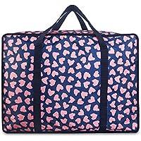 大型ストレージバッグパープルパターンポータブル高品質旅行オーガナイザー防水性防湿オックスフォード布デベールキルト衣類移動仕上げ荷物袋 (サイズ さいず : 70 * 35 * 50cm)