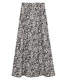 [リリーブラウン] ツートン植物柄ロングスカート LWFS194167 レディース GRY 日本 F (FREE サイズ)