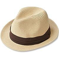 (エッジシティー) EdgeCity 折りたたみ可能 大きいサイズ メンズ 麦わら帽子 ストローハット