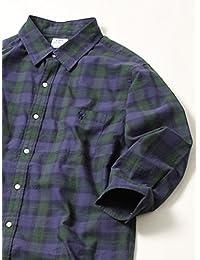 (コーエン) COEN スラブチェック七分袖シャツ 75106038029