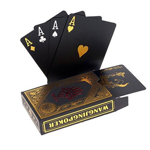 ブラックトランプ ポーカー プレイングカード プラスチック 製 ポーカー ゴールデン Gold
