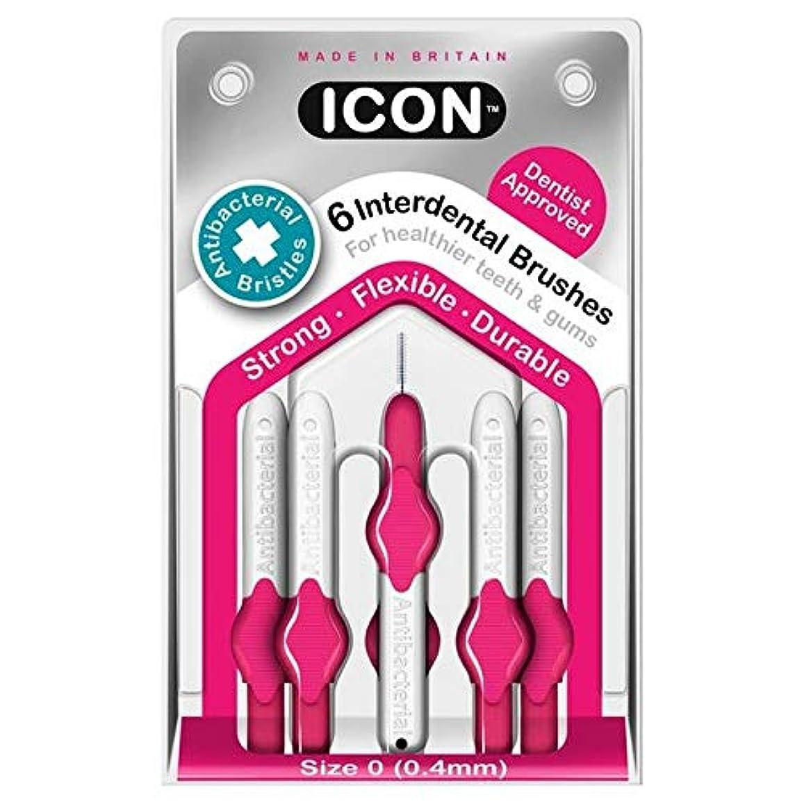 最大の意図夕暮れ[Icon ] アイコンの歯間には、パックあたり0.4ミリメートル6ブラシ - Icon Interdental Brushes 0.4mm 6 per pack [並行輸入品]