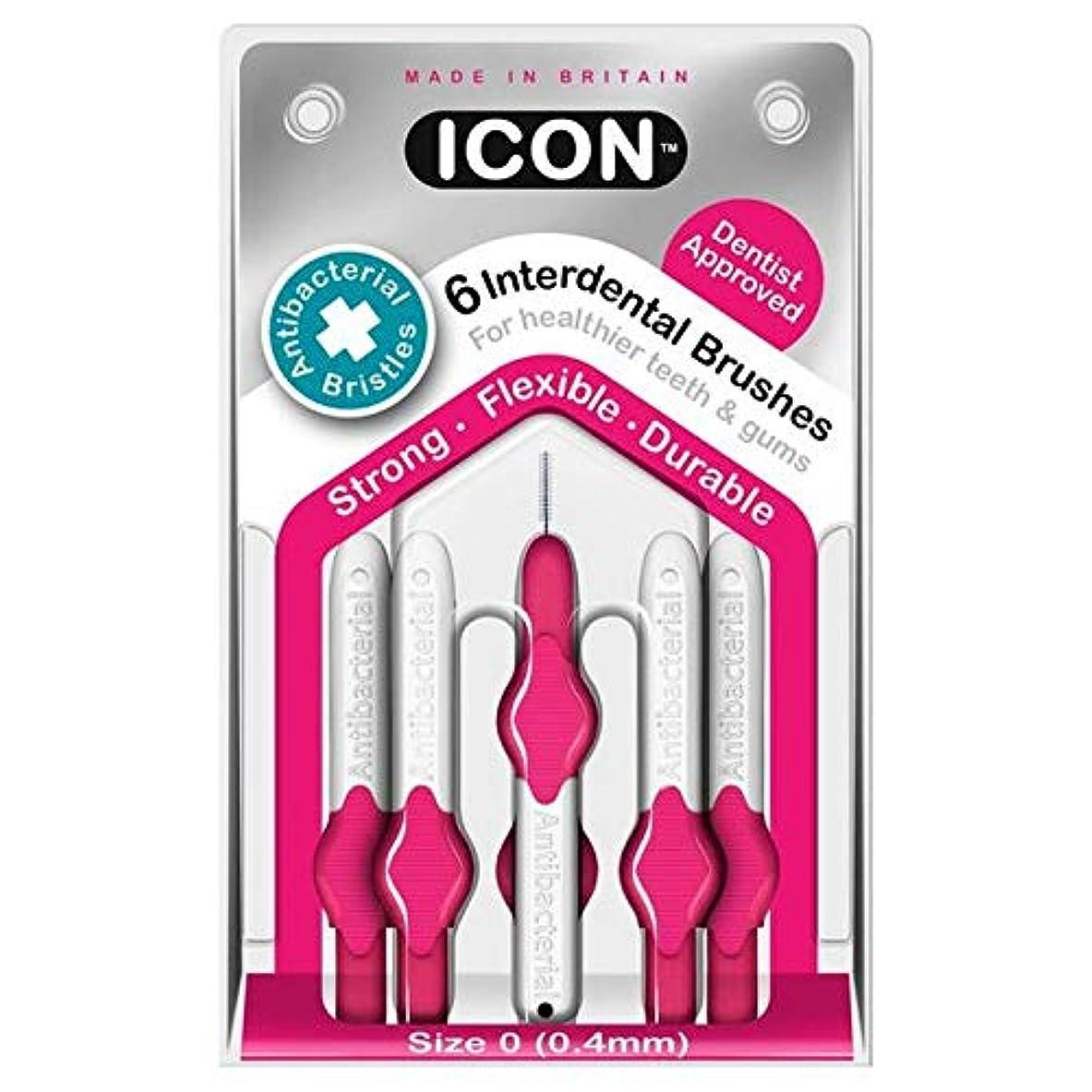 雪だるま崩壊トマト[Icon ] アイコンの歯間には、パックあたり0.4ミリメートル6ブラシ - Icon Interdental Brushes 0.4mm 6 per pack [並行輸入品]