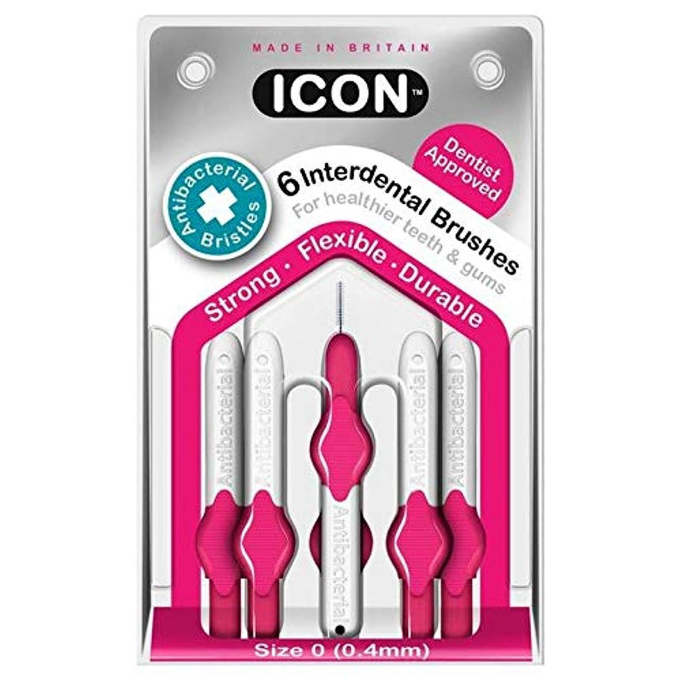 雑多な木製騒々しい[Icon ] アイコンの歯間には、パックあたり0.4ミリメートル6ブラシ - Icon Interdental Brushes 0.4mm 6 per pack [並行輸入品]