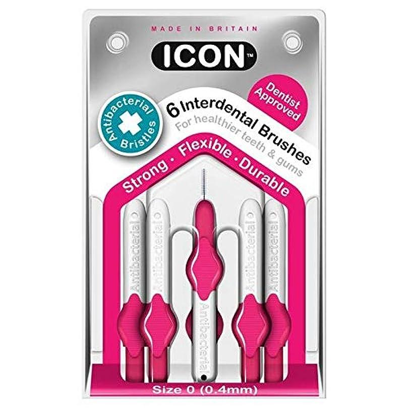 コットンマザーランド借りる[Icon ] アイコンの歯間には、パックあたり0.4ミリメートル6ブラシ - Icon Interdental Brushes 0.4mm 6 per pack [並行輸入品]