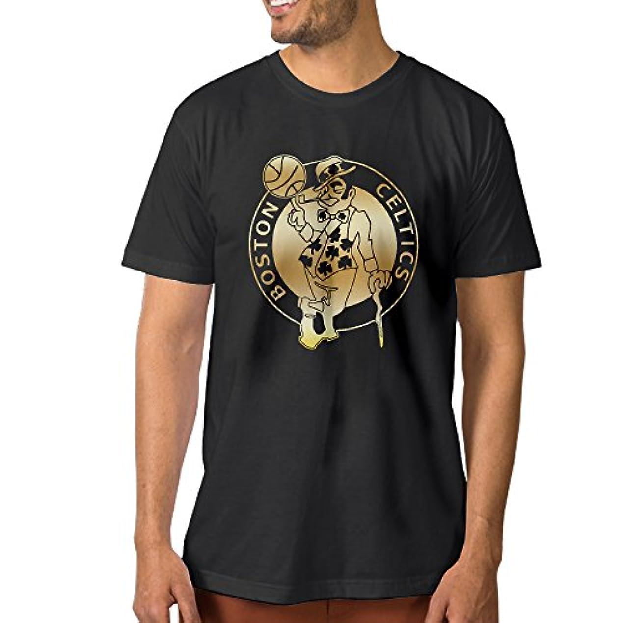 リベラルエクスタシー満足させる【エクセル】大きいサイズ ボストン?セルティックス ゴールド ロゴ Tシャツ メンズ ショートスリーブ カジュアル スポーツウェア クルーネック