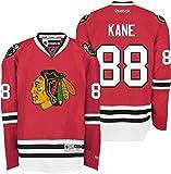 リーボック ジャージ (Small) - Chicago Blackhawks 88 Patrick Kane Red Reebok Premier Replica Hockey Jersey