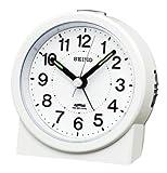 SEIKO CLOCK (セイコークロック) 目覚まし時計 電波 アナログ 白パール KR325W