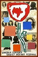 ポスター ドナルド バチェラー モストリー モーツァルト フェスティバル 1995年 限定800枚 額装品 ウッドハイグレードフレーム(ナチュラル)