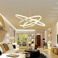 @シャンデリア 現代のLEDシンプルなペンダントライト、Lustreペンダントライトペンダント天井の掛かり (色 : 白, サイズ さいず : プロミス調光-30*40*60CM)