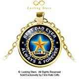 Lasting Stars父の日ギフトBest Dad EverネックレスI Love You Always & ForeverペンダントDadネックレス誕生日ギフト