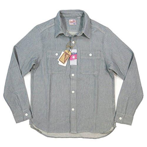 (ヒューストン)HOUSTON マチ付 長袖 無地 ヘビーネルシャツ 40110 M GREY(グレー)