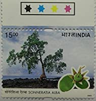Sonneratia Alba , Thematic , Rs 5 Single Indian Stamp Traffic Light