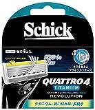シック Schick クアトロ4 4枚刃 チタニウムレボリューション 替刃 (4コ入)