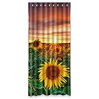 ファッション ヒマワリ カスタム ウィンドウカーテン遮光50x108 約127cm(W)x 274cm(H)