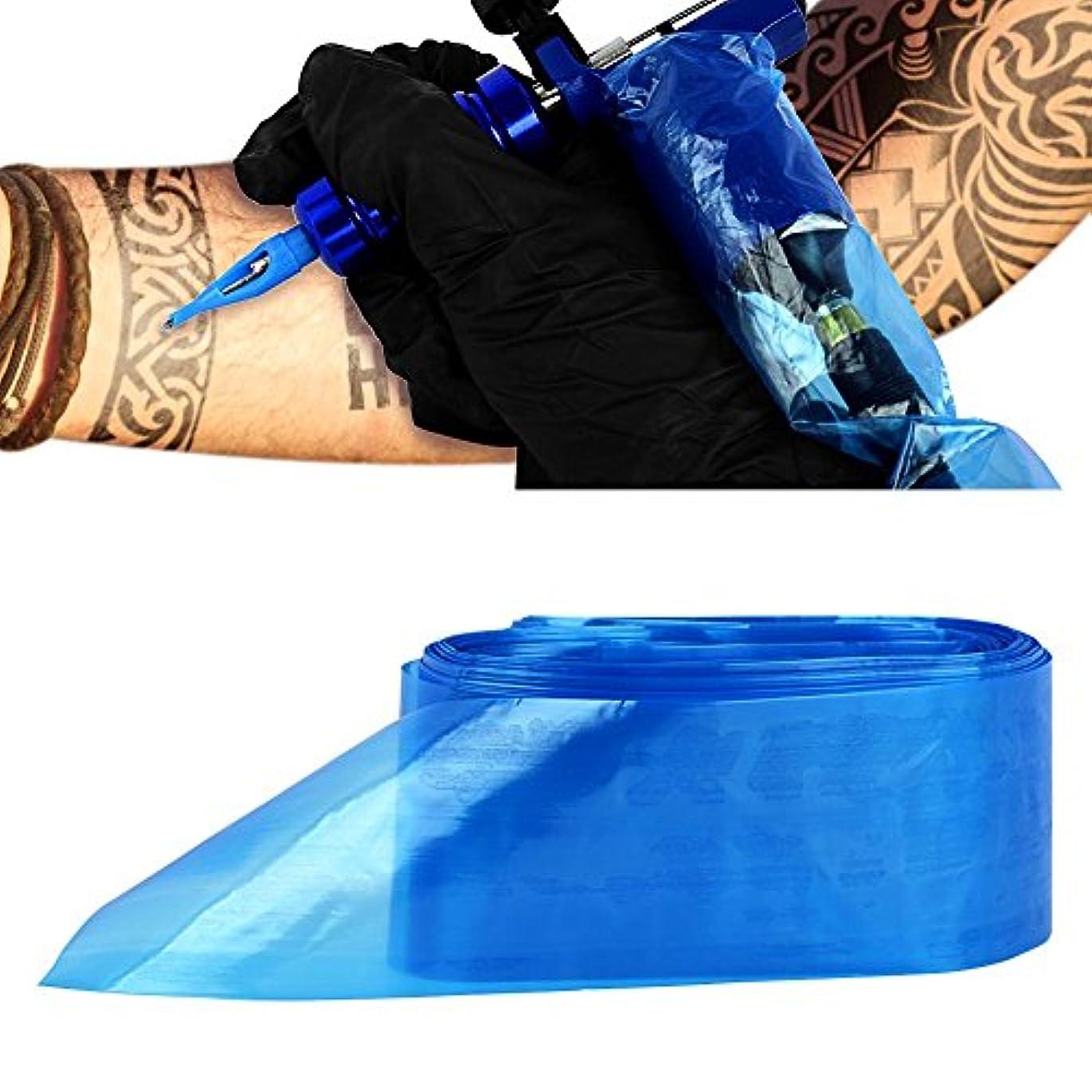 密輸これまでナプキンATOMUS タトゥークリップカバー バッグ タトゥ コード スリーブバッグ タトゥーマシンのため 使い捨て ブルー 100PCS