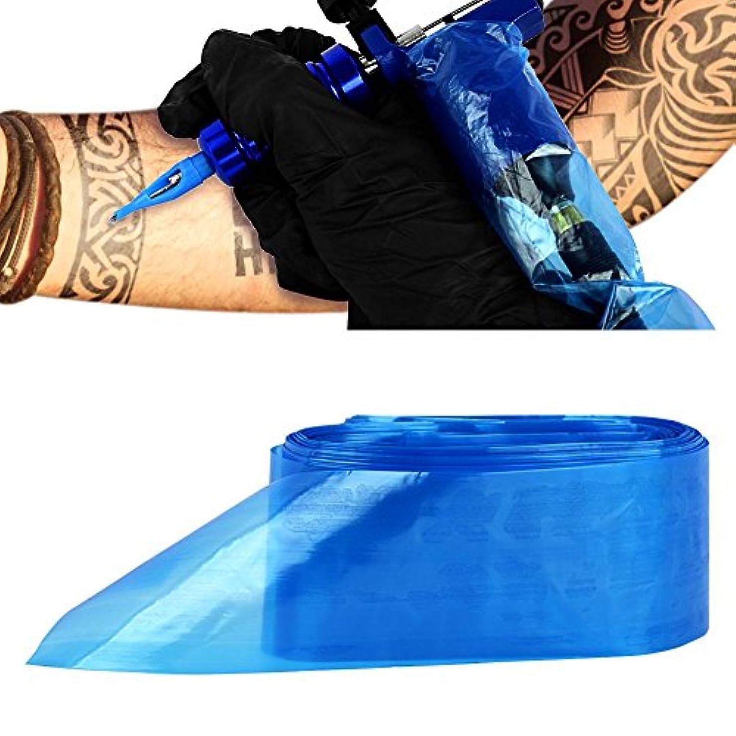 うるさい気になるに負けるATOMUS タトゥークリップカバー バッグ タトゥ コード スリーブバッグ タトゥーマシンのため 使い捨て ブルー 100PCS