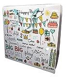 Happy Birthday 紙袋 誕生日ギフトバッグ 手提げ 3枚セット