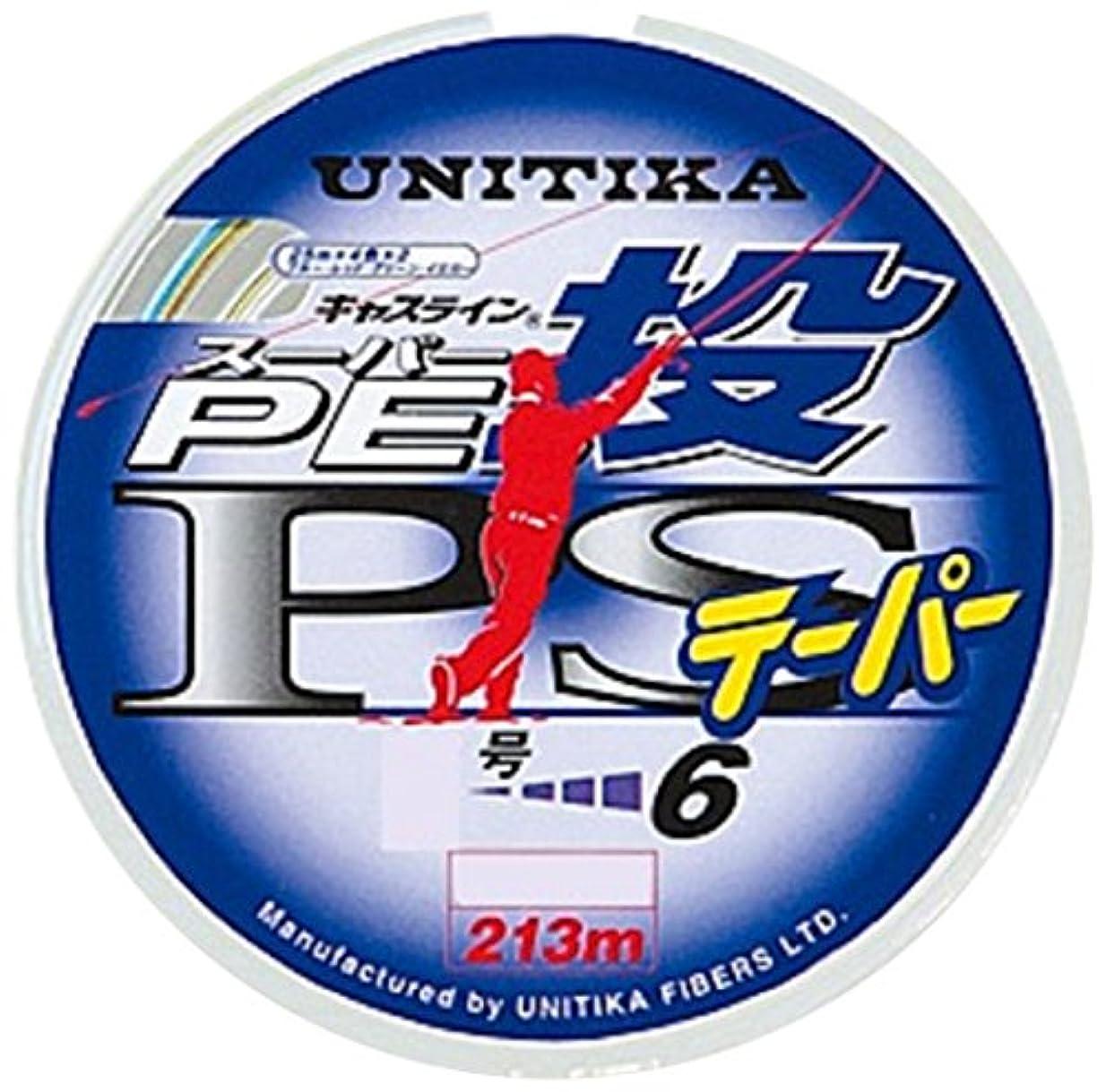 クラシカル内陸リボンユニチカ(UNITIKA) ライン キャスライン スーパーPE投PSテーパー付 213m 0.8~~6号 25m毎に4色分け×2+13m ~