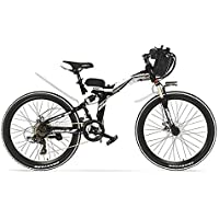 K660 26英寸36V 15A折叠山地车,强力马达,全悬架、高碳钢框,带驱动辅助机自行车