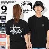 [ステューシー] STUSSY Tシャツ 半袖 メンズ Basic Stussy サイズL ブラック/グレー [並行輸入品]