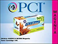 Premium Compatibles 44059214-PCI PCI Okidata 44059214 MC860 Magenta Toner Cartridge 10K Average Page Yield by PREMIUM COMPATIBLES INC.