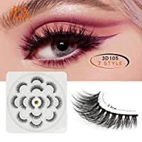 Feteso つけまつげ 7ペア Fashion Eyelashes 3D 高品質 魅力的手作り 超極細素材 人気 飾り 再利用可能 超濃密 自然 日韓風 やわらかい