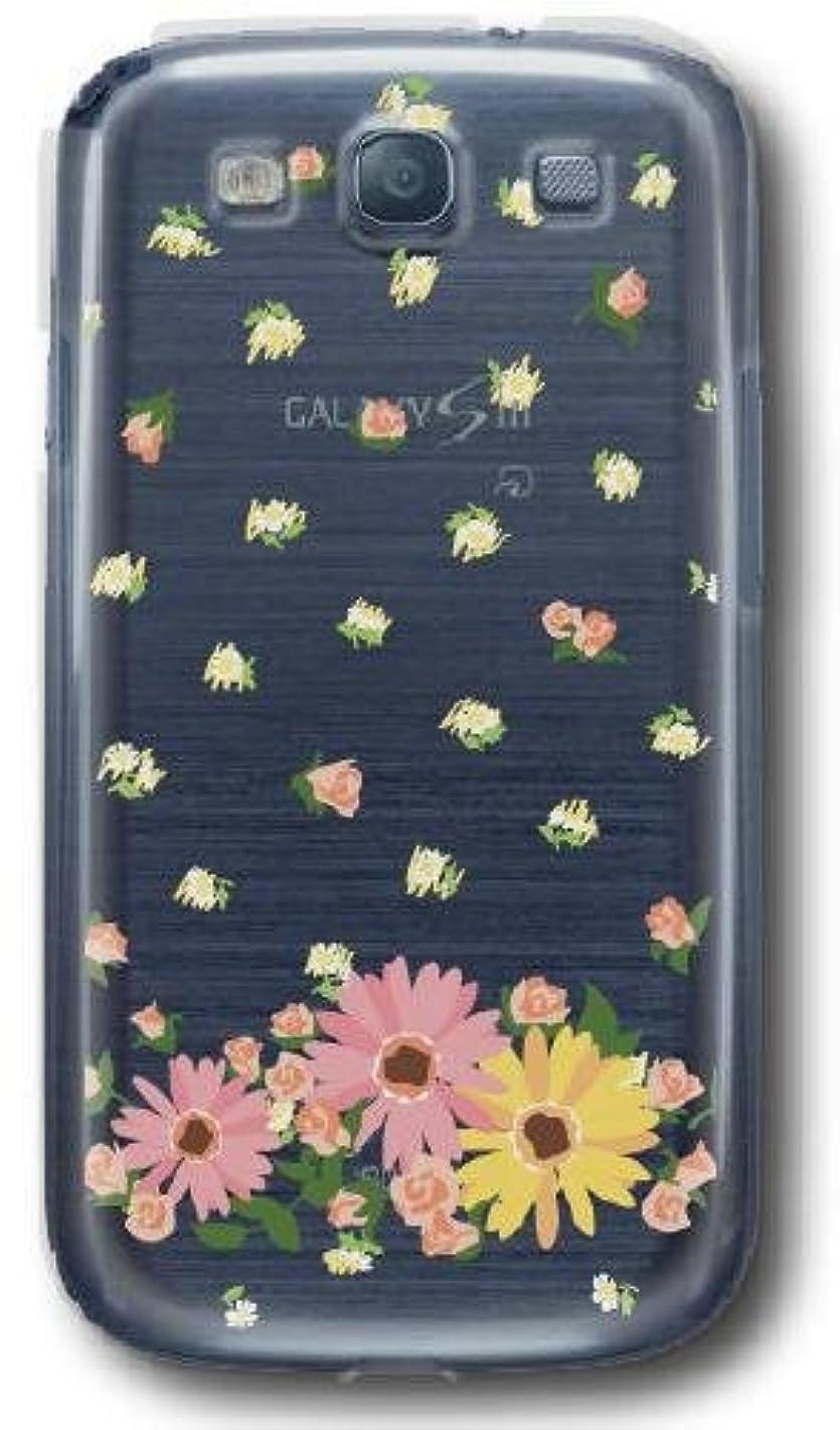 影何よりも完璧【Paiiige】 花柄 ドット風 (クリア)/ for Galaxy S3 SC-06D/Docomo専用ケース DCSC06-100-A004