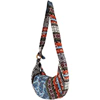 elfishjp キャンバス バッグ トートバッグ レディース ハンドバッグ 大容量 ショルダーバッグ 多機能 多用途 ボヘミア 民族風