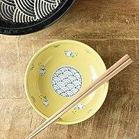 美濃焼 14.5cm波と千鳥黄鉢(アウトレット品)