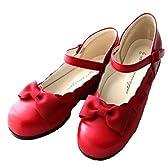 (キャサリンコテージ)Catherine Cottage 子供靴 リボンストラップフォーマルシューズ C24 21cm 赤 C24
