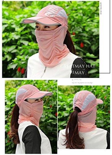 (よキーよ)Yokeeyo日よけ帽子 フェイスマスク フェイスカバー ネックカバー 大判 薄地 きれいめ 顔面、首筋の日焼け対策 紫外線 UVカット 日よけ止め レディース アウトドア 花柄