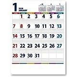 新日本カレンダー 2018年 カラーラインメモ ビター カレンダー 壁かけ NK158