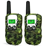 Wcocow トランシーバー子供ギフト Walkie Talkies 無線機 2台セット LED...