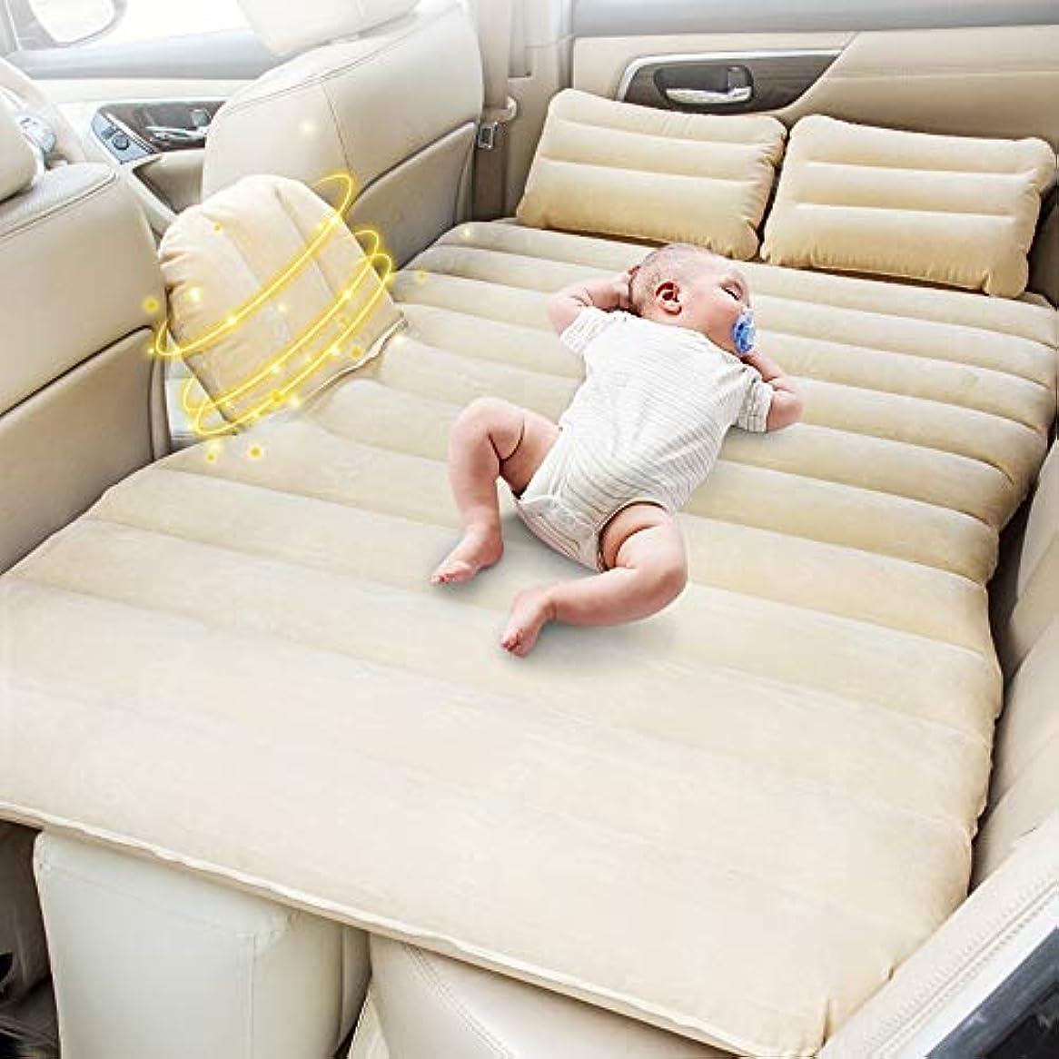 先駆者円形木製車の空気マットレス旅行膨脹可能なマットレスは2つの空気枕の空気ベッドのキャンプの車の後部座席とユニバーサルをキャンプします
