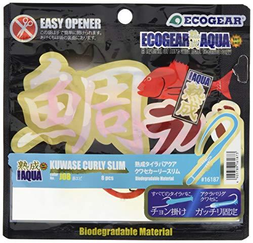 エコギア(Ecogear) ワーム 熟成タイラバアクア クワセカーリースリム J08 赤エビ